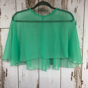 Vintage Sheer Shrug.  Beautiful Minty Green.  I65